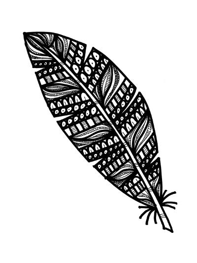 Tribal Feather-Laura Miller-Giclee Print