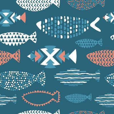 Tribal Fish Pattern-Tasiania-Art Print