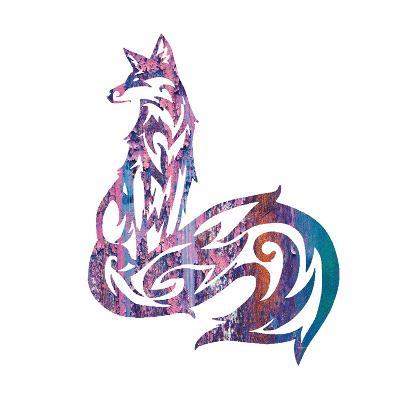 Tribal Fox 1-Melody Hogan-Art Print