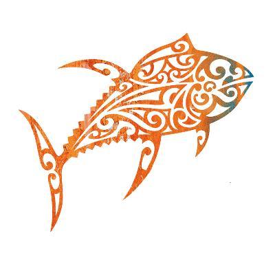 Tribal Koi 2-Melody Hogan-Art Print
