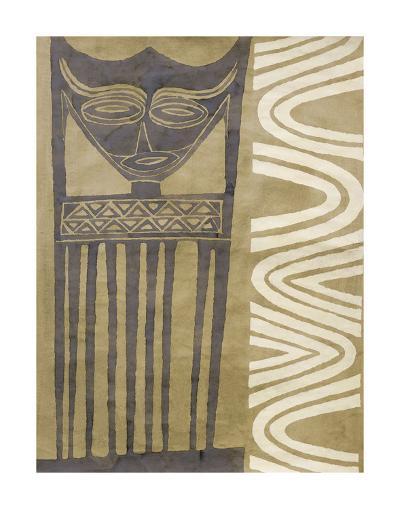 Tribal Mask-Dominique Gaudin-Art Print