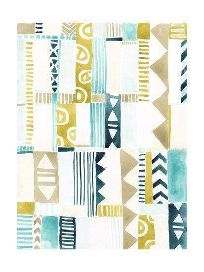 Tribal Patchwork II-June Vess-Art Print