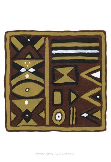 Tribal Rhythms I-Virginia A^ Roper-Art Print