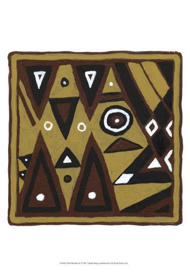 Tribal Rhythms II-Virginia A^ Roper-Art Print