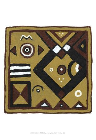 Tribal Rhythms III-Virginia A^ Roper-Art Print