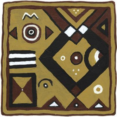 Tribal Rhythms IV-Virginia A^ Roper-Art Print