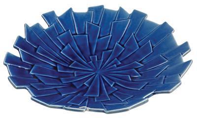 Tribal Styled Geometric Blue Plate