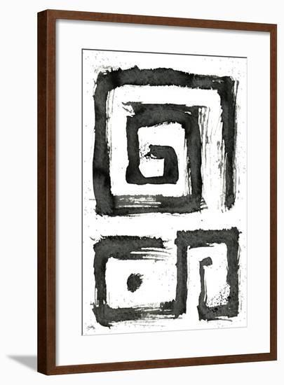 Tribal Swirls III-Elizabeth Medley-Framed Art Print