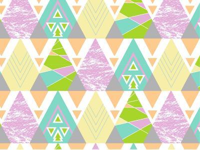 Tribal Triangles-Joanne Paynter Design-Giclee Print