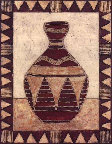 Tribal Urn IV-Elizabeth David-Art Print