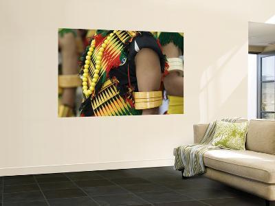 Tribesman in Costume, Hornbill Festival-Hira Punjabi-Wall Mural
