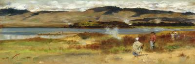Tribesmen by Lake Tarawera, Near Rotorua, New Zealand-Girolamo Pieri Nerli-Giclee Print