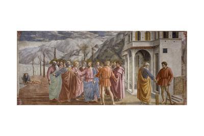 Tribute Money, 1425-27-Masaccio-Giclee Print