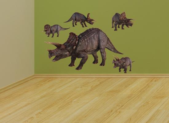 Triceratops Layout--Wall Decal