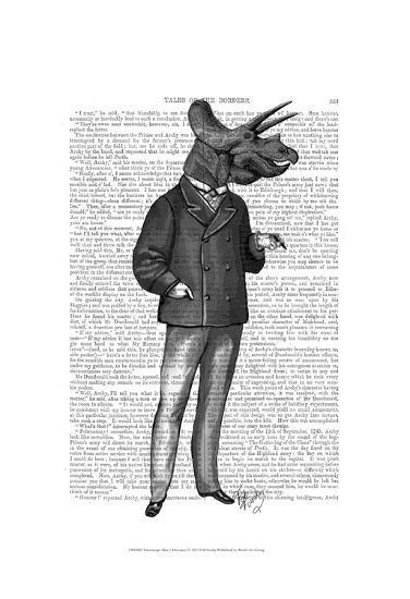 Triceratops Man 1 Dinosaur-Fab Funky-Art Print