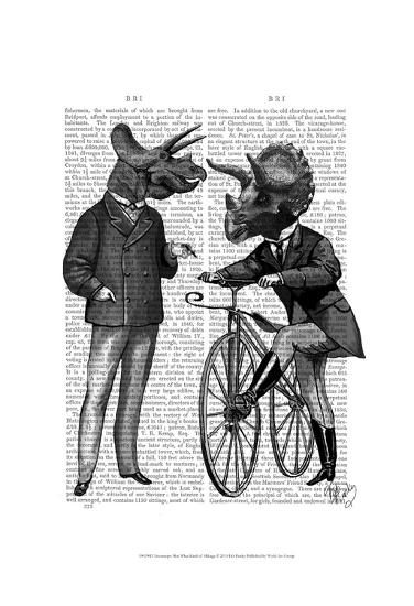 Triceratops Men What Kind of Mileage-Fab Funky-Art Print