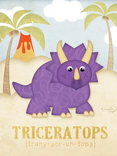 Triceratops-Jennifer Pugh-Art Print