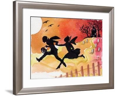 Trick or Treat Haunted House Halloween-sylvia pimental-Framed Art Print