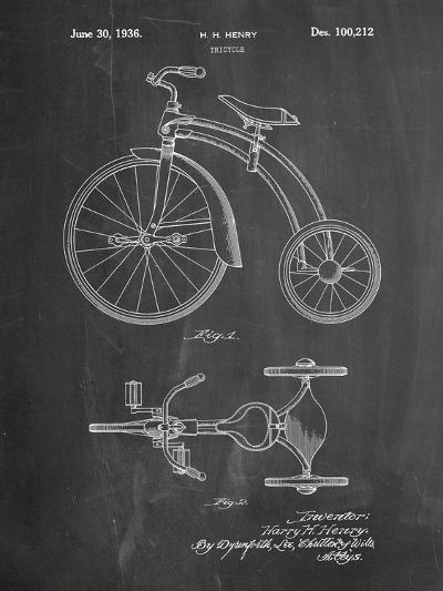 Tricycle Patent-Cole Borders-Art Print