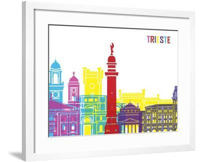 Trieste Skyline Pop-paulrommer-Framed Art Print