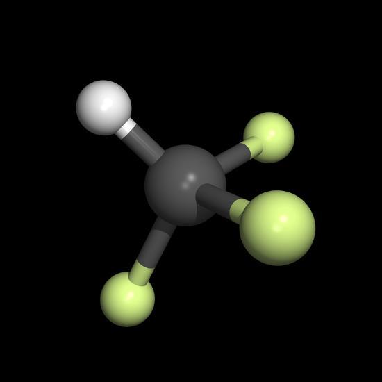 Trifluoromethane Molecule-Friedrich Saurer-Photographic Print