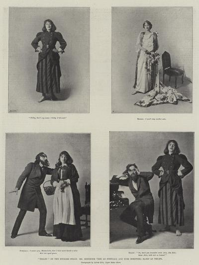 Trilby on the English Stage, Mr Beerbohm Tree as Svengali and Miss Dorothea Baird as Trilby--Giclee Print