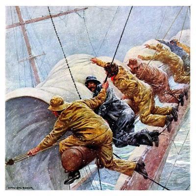 """""""Trim the Sails!,""""March 18, 1933-Anton Otto Fischer-Giclee Print"""