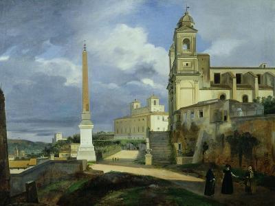 Trinita Dei Monti and the Villa Medici, Rome, 1808-Francois-Marius Granet-Giclee Print
