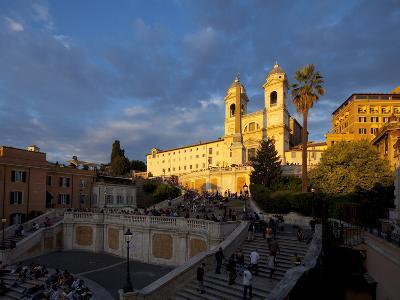Trinita Dei Monti Church, Piazza Di Spagna, Spanish Steps, Rome, Italy, Europe-John Miller-Photographic Print