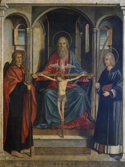 Trinity Between St James the Pilgrim and St Stephen, 1495-Marco Costanzo-Giclee Print