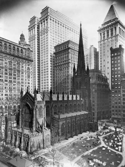 Trinity Church and Surrounding Skyscrapers, New York--Photographic Print