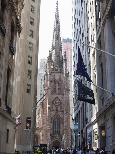 Trinity Church, Broadway and Wall Street-Amanda Hall-Photographic Print