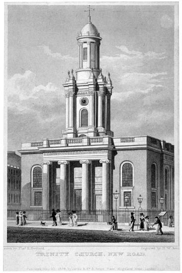Trinity Church, Euston Road, St Pancras, London, 1828-Thomas Hosmer Shepherd-Giclee Print