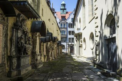 Trinity Church's Cemetery Grave Markers, Church of the Holy Trinity, Regensburg, Bavaria, Germany-Michael Runkel-Photographic Print