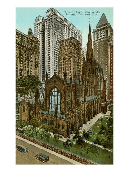 Trinity Church, Skyscrapers, New York City--Art Print