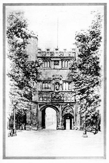 Trinity College, Cambridge, Early 20th Century--Giclee Print