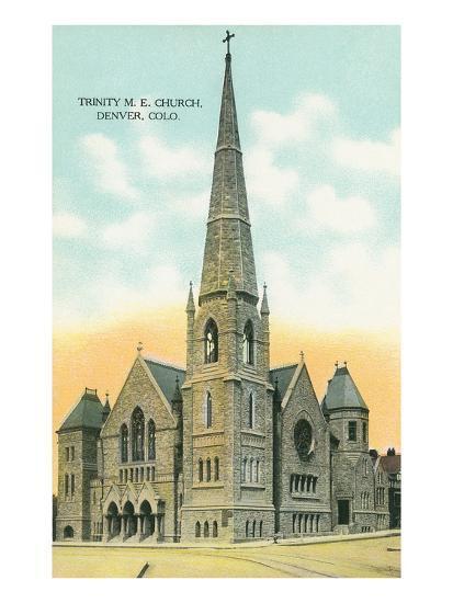 Trinity M.E. Church, Denver, Colorado--Art Print