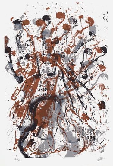 Trio cordes II-Fernandez Arman-Limited Edition