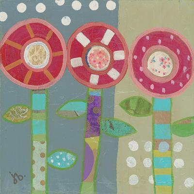 Trio Of Red Flowers-Julie Beyer-Art Print