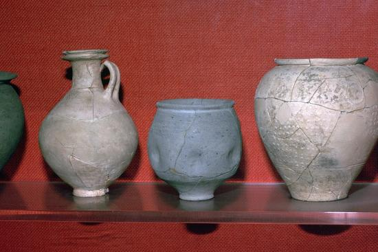 Trio of Roman pots. Artist: Unknown-Unknown-Giclee Print