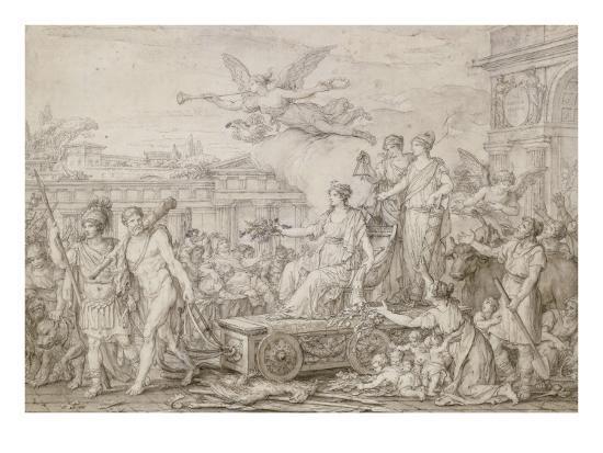 Triomphe de la Constitution de 1793-Joseph Marie Vien-Giclee Print