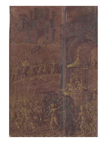 Triomphe de Titus-Andrea Mantegna-Giclee Print