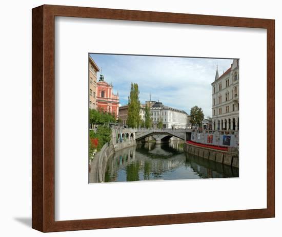 Triple Bridge by Joze Plecnik, Ljubljana, Slovenia-Lisa S. Engelbrecht-Framed Photographic Print