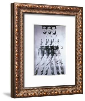 Triple Elvis, 1963-Andy Warhol-Framed Art Print