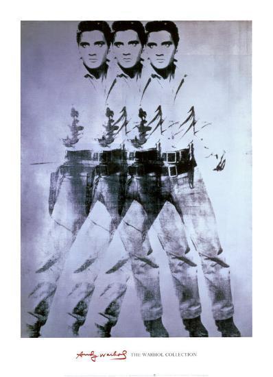 Triple Elvis, 1963-Andy Warhol-Art Print