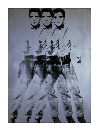 Triple Elvis, 1963-Andy Warhol-Giclee Print