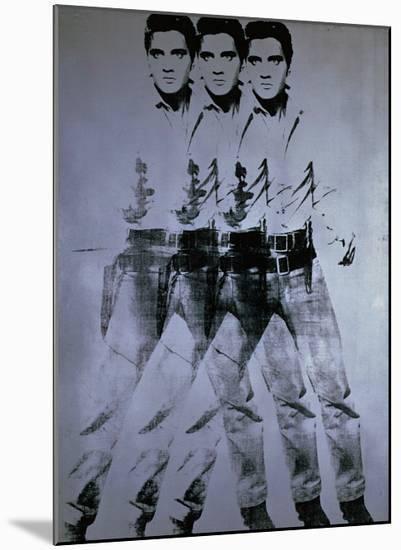 Triple Elvis, 1963-Andy Warhol-Mounted Giclee Print