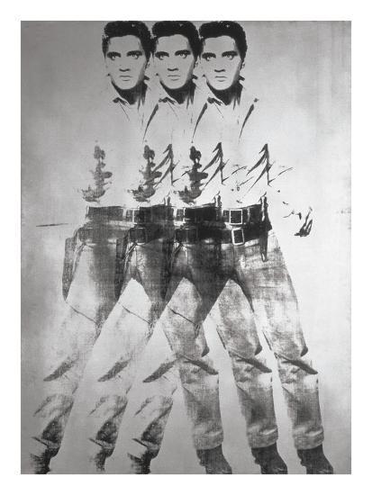 Triple Elvis®, 1963-Andy Warhol-Art Print