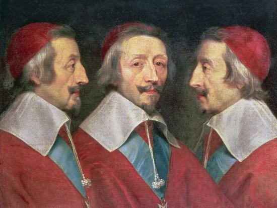 Triple Portrait of the Head of Richelieu, 1642-Philippe De Champaigne-Giclee Print