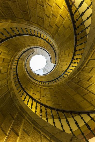 Triple Spiral Staircase of Floating Stairs. Convent of Santo Domingo De Bonaval-Peter Adams-Photographic Print